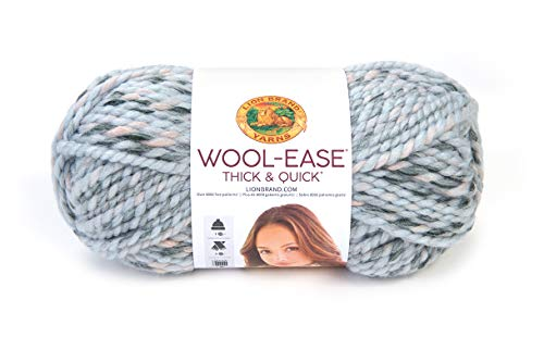 Halloween Yarn Crafts (Lion Brand Yarn 640-548 Wool-Ease Thick & Quick Yarn, One Size, Artic)