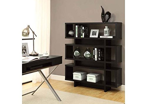monarch-specialties-hollow-core-high-modern-bookcase-55-inch-cappuccino