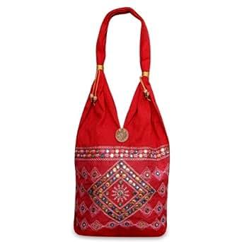 Espejo indio bordado de algodón Bolsa de moda para ella