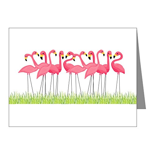 Pink Flamingo Note (CafePress - Cuban Pink Flamingos Note Cards - Blank Note Cards (Pack of 20) Glossy)