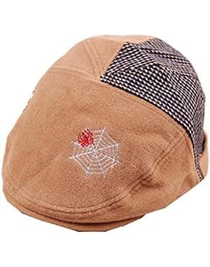 Kids Baby Flat Hat Warm Baseball Cap Beanie Peaked Cap Beret