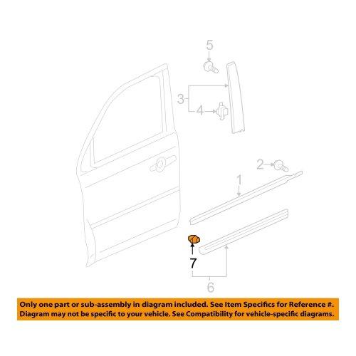 2009-2015 Honda Pilot Body Side Molding Clip - 75306-SZA-A01