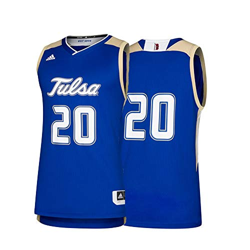 adidas NCAA Tulsa Golden Hurricane Mens Replica Basketball Jerseyreplica Basketball Jersey, Collegiate Royal, XX-Large