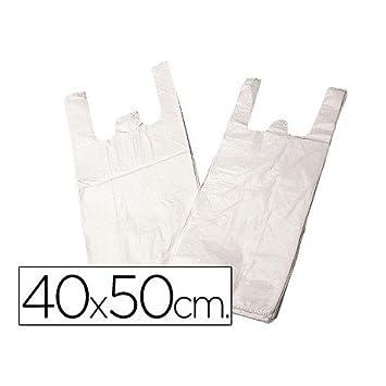 BOLSA PLASTICO CAMISETA 40X50 CM -PAQUETE 200: Amazon.es: Oficina y papelería