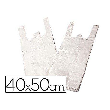 SACCHETTO DI PLASTICA 40 X 50 CM-MAGLIETTA-PAQUETE 200 LIDERPAPEL