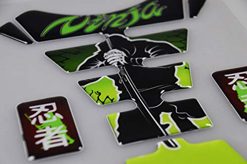 Revso Star Motorcycle Sticker Accessories Reflective Gas Tank Protector Pad Tank pad for Ninja 650 ZX636 ZX600 ZX-10R ZX14 ZX1400 ZX14R ABS 1000 ZX1000 GREEN