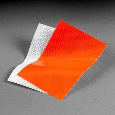 [해외]3M(TM) Diamond Grade(TM) Fluorescent Flexible Drum Wrap Sheeting 3914 Orange 4 in x 50 yd / 3M(TM) Diamond Grade(TM) Fluorescent Flexible Drum Wrap Sheeting 3914 Orange 4 in x 50 yd