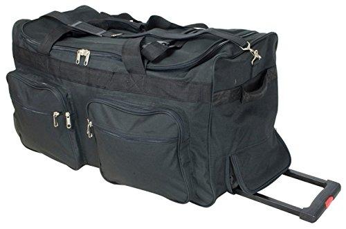 Trolleytasche Koffertrolley Sporttasche Reisetasche mit Trolleyfunktion aus 600D Nylon Gewebe - Modell Phoenix - Farbe Schwarz