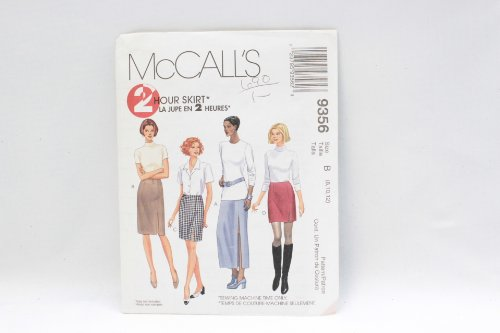 Mccalls 9356 Sewing Pattern in Misses Size 12-14-16 Front-side Seam-vent 2-hour Easy Skirts in in Four Lengths All with Darts and Faced Waist.