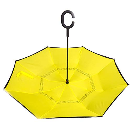 Upside-down Umbrella Reverse-folding-type Umbrella Self-supporting Umbrella Rain-and-fall Combinedly C-type Hand On Hand 8 Bones Water Repellant Wind Resistant Strong 210T Not Wetable Car Long Umbrell