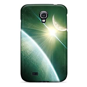 Galaxy S4 Case Cover - Slim Fit Tpu Protector Shock Absorbent Case (space)
