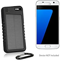 Samsung Galaxy S7 Battery, BoxWave [Solar Rejuva PowerPack (5000mAh)] Solar Powered Backup Power Bank for Samsung Galaxy S7 - Jet Black