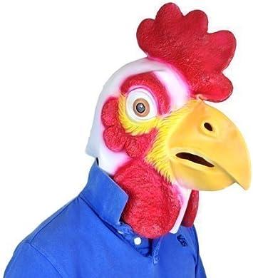 gallina gallo Pájaro Cabeza Completa Látex Máscara Disfraz Animal ...