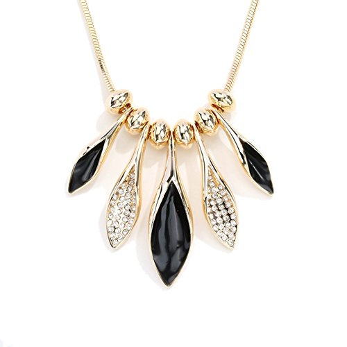NL-02084C5 New Style Alloy Europe Leaf Drip Women Necklace (Lil Viking Costume)