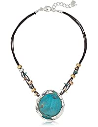 Robert Lee Morris Womens Patina Sculptural Pendant Necklace