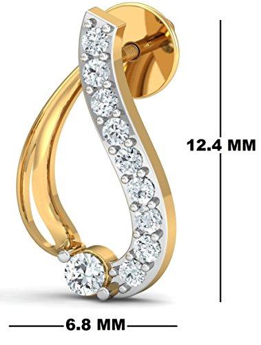 Fehu Jewel Women's 0.15ct Natural Diamond Fine Earrings Rose Gold Earrings Over Sterling Silver Gifts for Women by Fehu Jewel (Image #1)