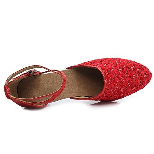 Mujer Baile Tac SWDZM Lentejuelas para Zapatillas de de Zapatos qABBn6F1Sw