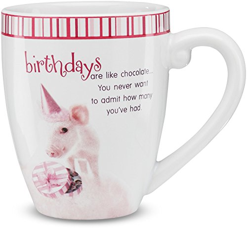 Shaded Pink by H2Z 27004 17-Ounce Celebrate Pig Mug, 4-3/4-I