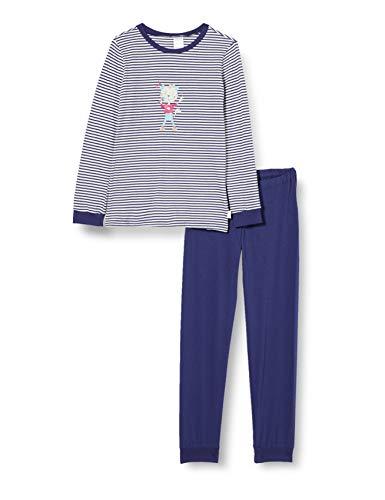 Schiesser Cat Zoe Md Schlafanzug lang meisjes Pyjamaset