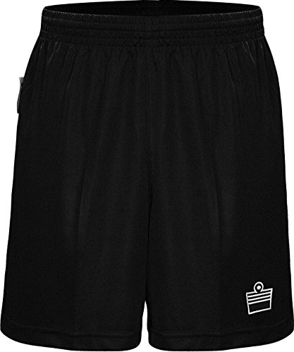 Admiral Norwich Referee Short, Black/White, Youth Large