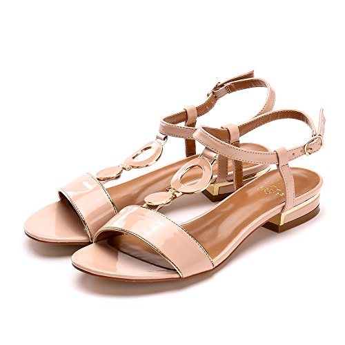 Image of Alexis Leroy Summer Women's Classic Buckle Design Fashion Flat Sandals