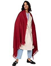 likemary Oversize Pashmina Wrap Shawl - Travel Blanket Scarf - 100% Merino Pure Wool Ethical Shoreditch Handwoven