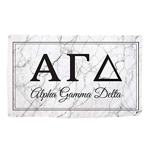 Alpha Gamma Delta Marble Box Letter Sorority Flag Banner 3 x 5 Sign Decor Alpha Gam
