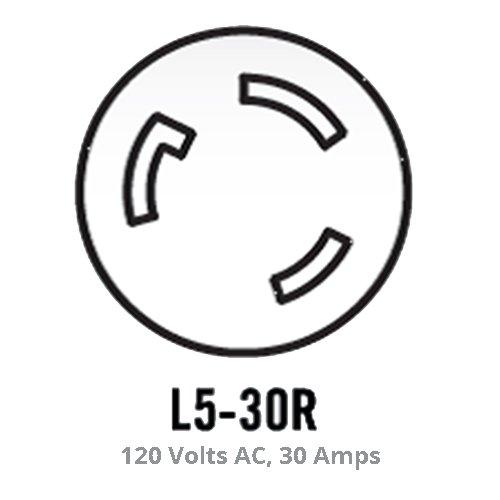 Champion 25 Foot 30 Amp 125 Volt Fan Style Generator