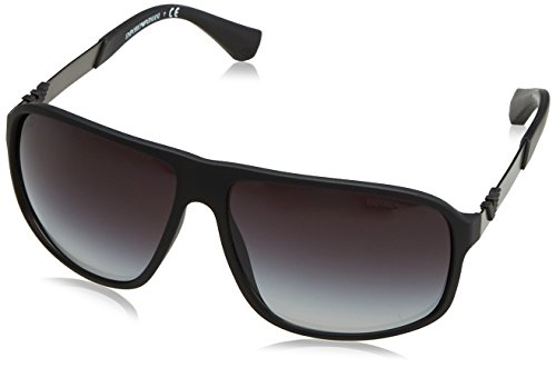 Armani EA4029 Sunglasses 50638G-64 - Black Rubber Frame, Grey Gradient - Armani Women For Sunglasses