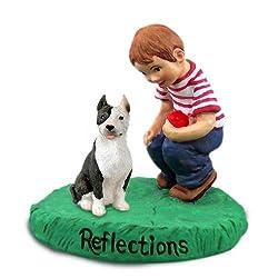 Pit Bull Terrier Brindle Reflections w/Boy Figurine