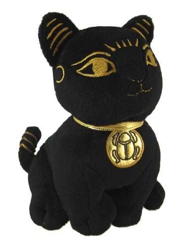 Black Egyptian Toy Cat Goddess Bastet Figure Bast Stuffed Plush (Plush Egyptian Toy)