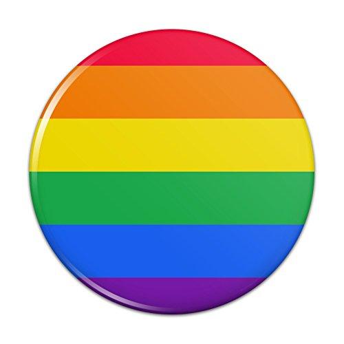 Pride Rainbow Button - Rainbow Pride Gay Lesbian Contemporary Kitchen Refrigerator Locker Button Magnet - 3
