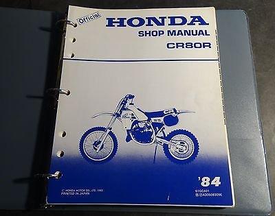 1984 HONDA MOTORCYCLE CR80 SERVICE MANUAL IN BINDER 180+ PAGES (986) (Manual Cr80 Honda Service Repair)