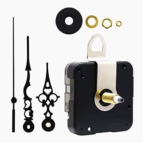 (Quartz DIY Wall Clock Movement Mechanism Battery Operated DIY Repair Parts Replacement,1/2 Inch Maximum Dial Thickness, 59/64 Inch Total Shaft Length. )