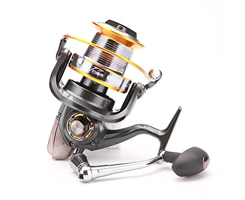 Fishing Reels Saltwater With 14+1BB Big Capacity Spool Long SurfCasting Spinning Fishing Reels Saltwater Boat Rock 10+1bb 4 (Big Water Reel)