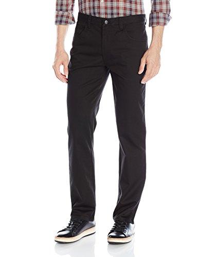 Van Heusen Men's Flex Slim Fit 5 Pocket Pant, Black, 32W x (5 Reinforced Pockets)