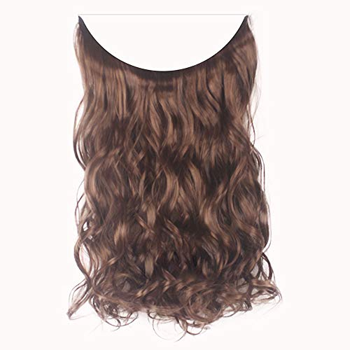 (EOWEO Hair Wig,Fashion Thick Clip in Hair extensions Straight Curls Full Head Hairpiece)