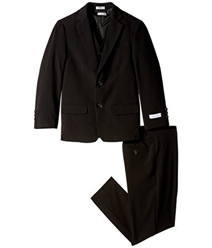 Calvin Klein Kids Boy's Bi-Stretch Suit (Big Kids) Black Youth 12 Big