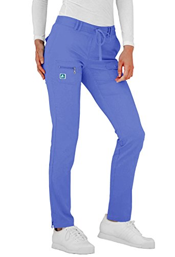 Adar Indulgence Womens Low Rise Tapered Leg 6 Pocket Drawstring Scrub Pants - 4100P - CBL - (Rayon Drawstring)