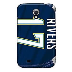 Bumper Hard Cell-phone Case For Samsung Galaxy S4 (WCL15011XnXT) Unique Design Beautiful San Diego Chargers Skin