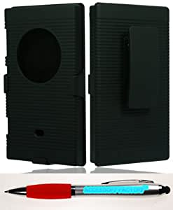 Accessory Factory(TM) Bundle (the item, 2in1 Stylus Point Pen) Nokia 1020 Lumia (AT&ampT) Ripple Case Black