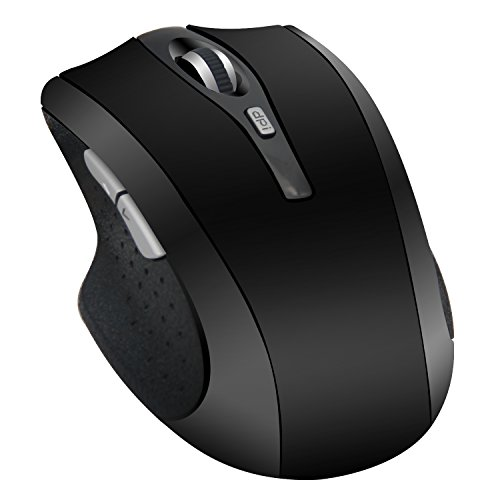 Wireless Adjustable Mute Button Silent Click Gaming Mouse (Black) - 6