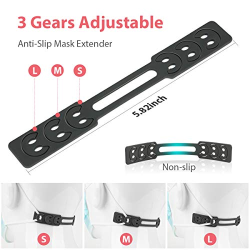 Mask Strap Extenders Ear Strap Hook Adjustable, Buckles Band Reduce Ear Pressure, Relieve Ear Pain ,Pack of 5