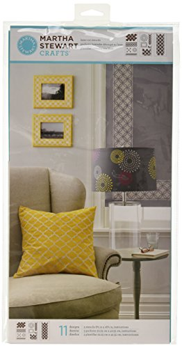Martha Stewart Crafts Large Stencils (8.75 by 16.75-Inch), 32266 Arabesque (3 Sheets with 11 ()