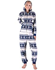 OFFSTREAM Unisex Christmas Onesie in Ugly Xmas Jumpsuit for Men & Women - Sweater & Suit Holiday Alternative