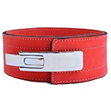 Weight Lifting Lever Belt 10mm - (Red) Gym Wear Training Cross Fit Power Lifting Straps Inzer