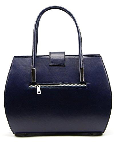 BAG cuir Croisette OH Bleu Sac à main femme MY Fonce Modèle 5nn1wA