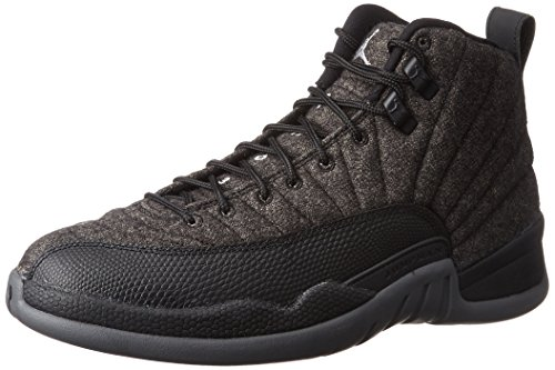Jordan 12 Retro Wool Mens Dark Grey/Metallic Silver/Black