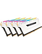 CORSAIR VENGEANCE RGB PRO 32GB (4x8GB) DDR4 2666MHz C16 LED Desktop Memory - White