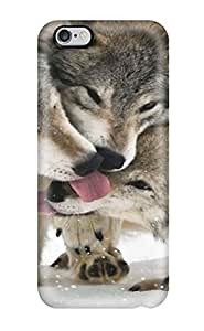 New Snap-on ZippyDoritEduard Skin Case Cover Compatible With Iphone 6 Plus- Animal Wolf